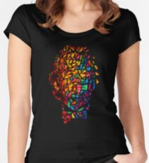 Bill Murray Stained Glass Mosaic Sharpie Marker Art Redbubble Women's Fitted Scoop T-Shirt