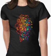 Bill Murray Stained Glass Mosaic Sharpie Marker Art Redbubble Womens Fitted T-Shirt