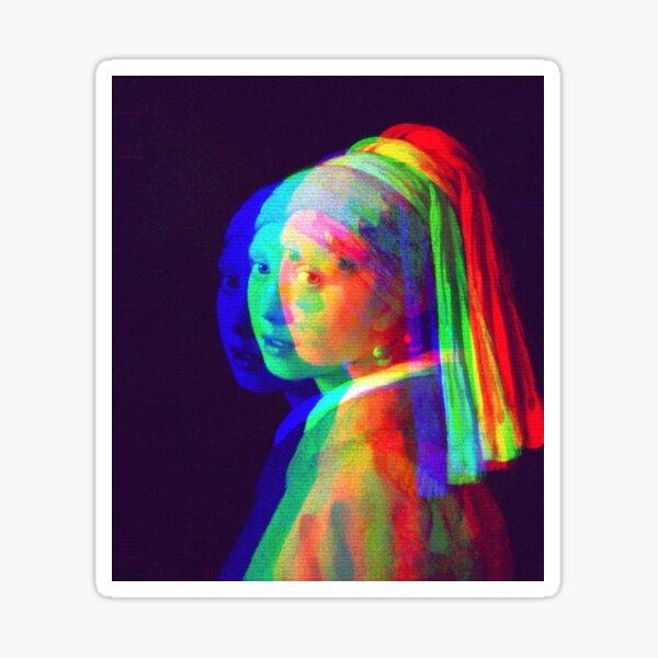 """Vermeers """"Mädchen mit dem Perlenohrring"""" war zunächst schön und mysteriös Sticker"""