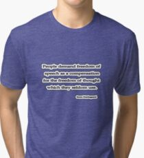 People demand,  Soren Kierkegaard  Tri-blend T-Shirt