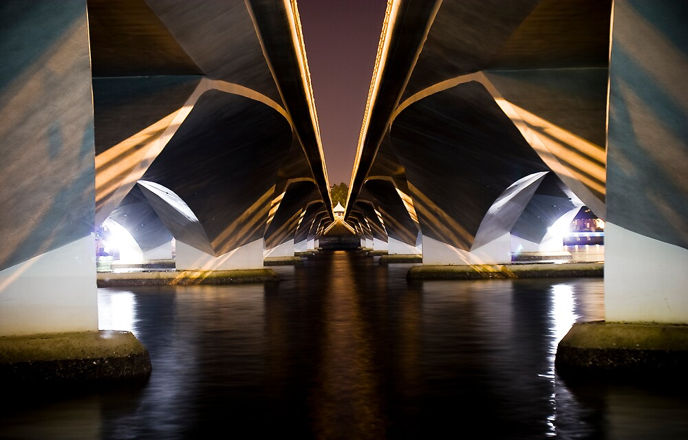Anderson Bridge underbelly, Singapore by David Collopy
