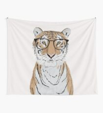 Clever Tiger Wall Tapestry