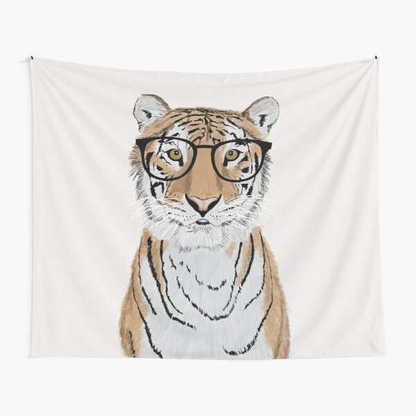 Clever Tiger Tapestry