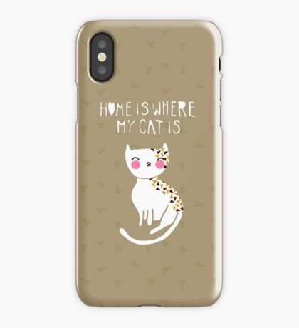 Home Is Where My Cat Is iPhone Case/Skin