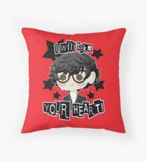 Persona 5 Hero- Black Throw Pillow
