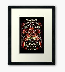 Spirit Board, Lowbrow Punk ,Devil, skulls, Gothic, Skeleton, Bones,evil, occult, pagan,  Framed Print