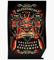 Spirit Board, Lowbrow Punk ,Devil, skulls, Gothic, Skeleton, Bones,evil, occult, pagan,  Poster