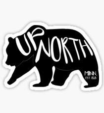 up north - minnesota est. 1858 Sticker