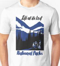 USA National Parks Vintage Poster Restored Unisex T-Shirt