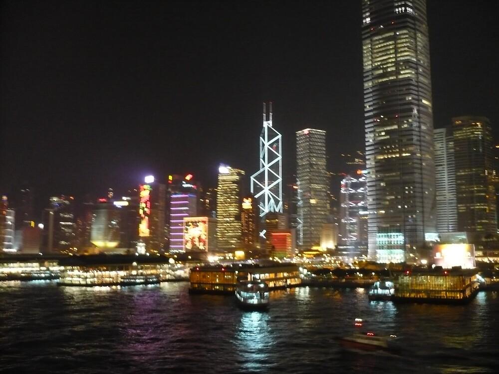 Hong Kong at Night by damen