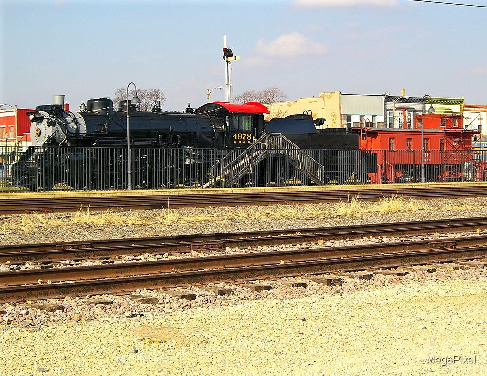 Iron Horse with Red Caboose by MegaPixel