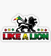 Like a lion Sticker