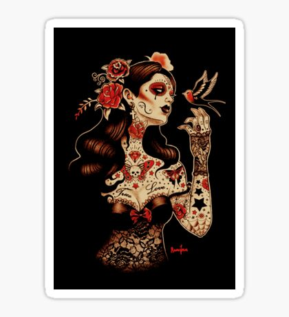 Day of the Dead Art, Day of the Dead Picture ,Dia De Los Muertos Sticker