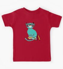 Camiseta para niños Smart Kitty