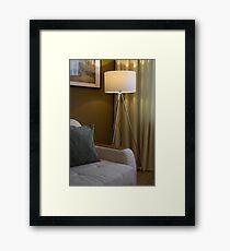 Floor lamp in a modern interior Framed Print
