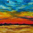 Desert Sunset by George Hunter