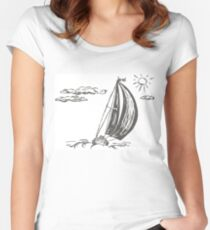 sailing yacht Women's Fitted Scoop T-Shirt