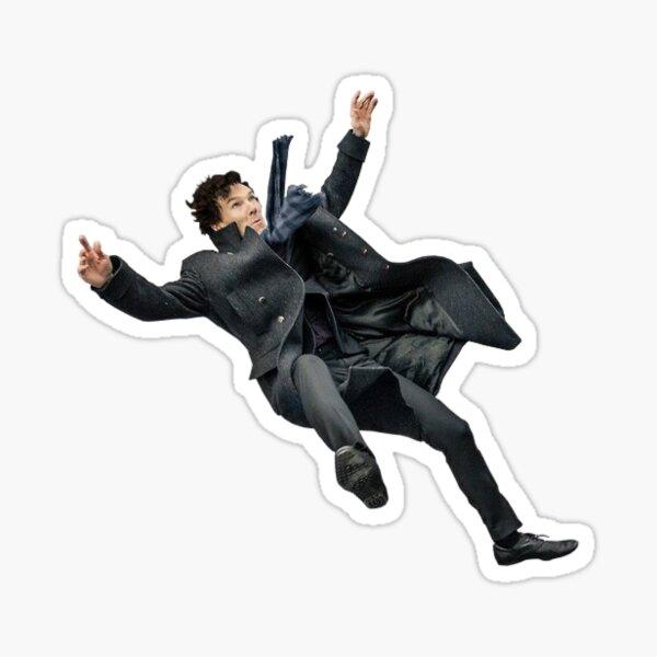 Falling Sherlock Sticker