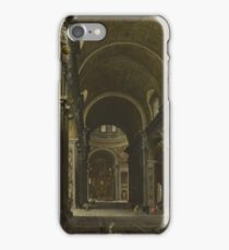 Giovanni Paolo Panini - Rome - The Interior Of St Peters iPhone Case/Skin