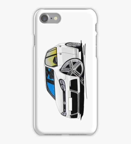 VW Golf (Mk6) R (5dr) White iPhone Case/Skin