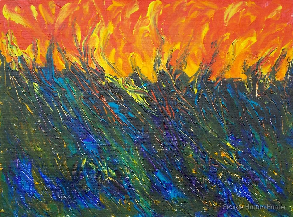 Burning blue grass by George Hunter