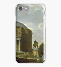 Giovanni Paolo Panini - Fantasy View With The Pantheon And Other Monuments Of Ancient Rome iPhone Case/Skin