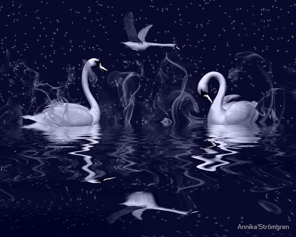 Swan fantasy by Annika Strömgren