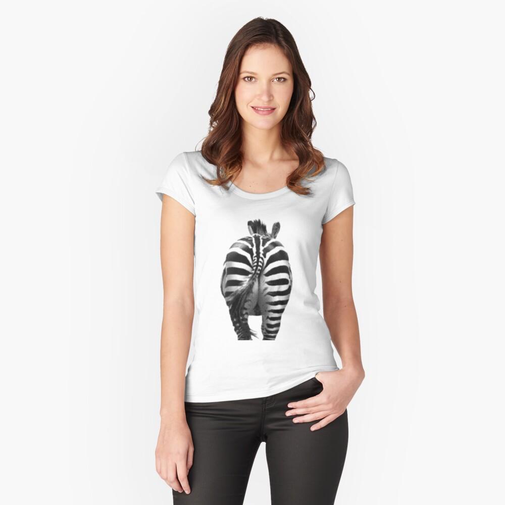 Zebra 07 Tailliertes Rundhals-Shirt für Frauen Vorne