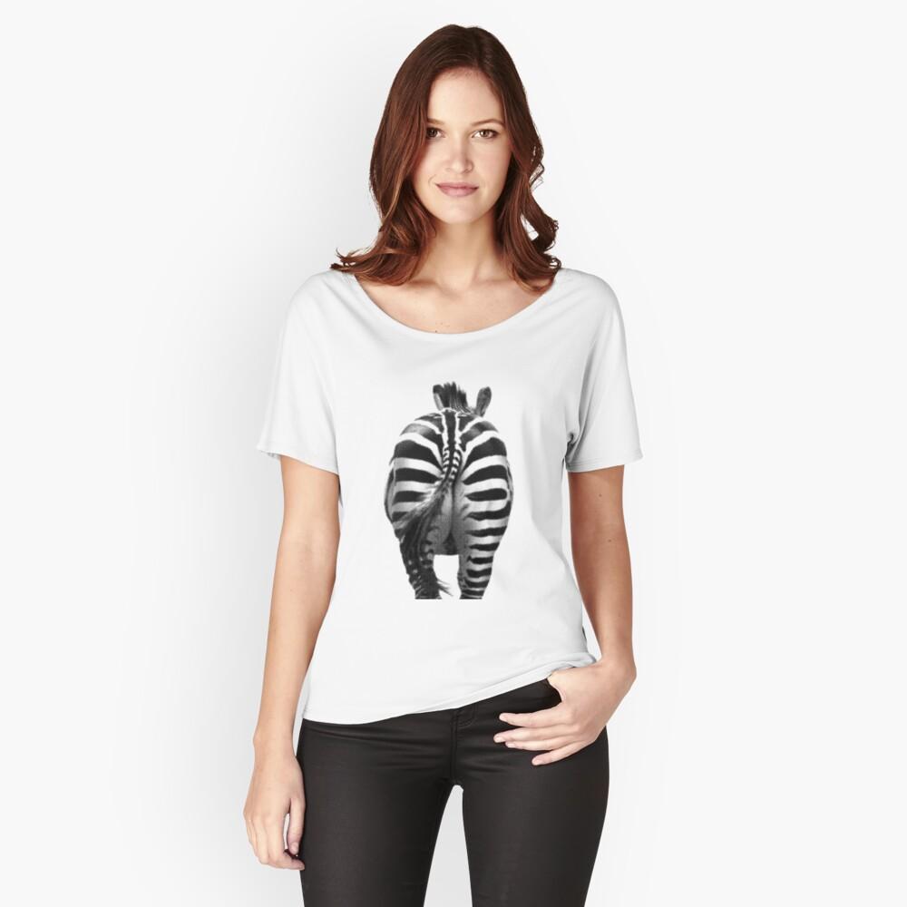 Zebra 07 Baggyfit T-Shirt für Frauen Vorne