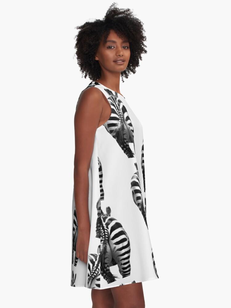Alternative Ansicht von Zebra 07 A-Linien Kleid
