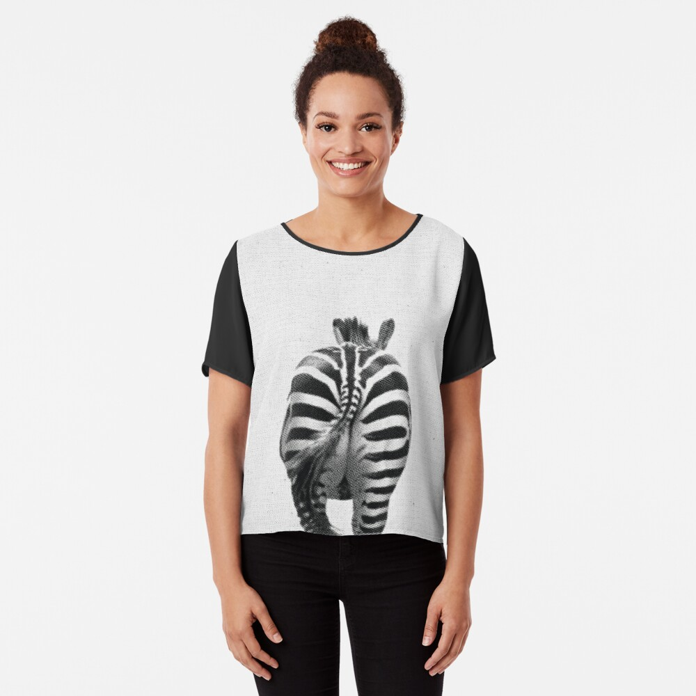 Zebra 07 Chiffontop für Frauen Vorne