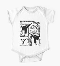 Taekwondo Martial Arts Terminology Typography Kids Clothes