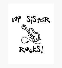 My Sister Rocks! Guitar Photographic Print