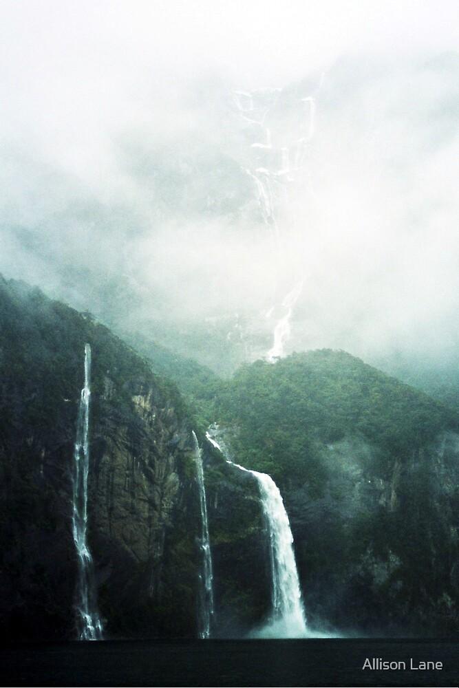New Zealand Waterfalls by Allison Lane