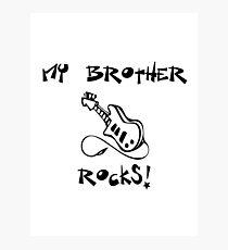 My Brother Rocks! Guitar Photographic Print
