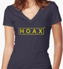 Ed Sheeran HOAX Brand Women's Fitted V-Neck T-Shirt