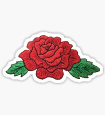 Red Rose Patch Sticker