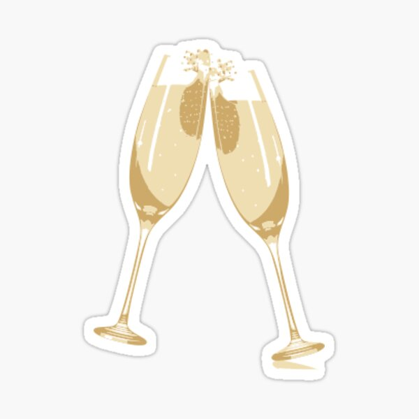 Verres à Champagne Sticker