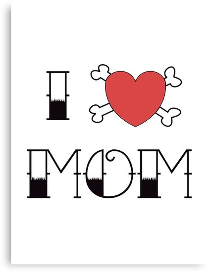 I (Love) Heart Mom Tattoo by surgedesigns
