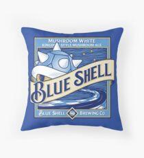 Blue Shell Throw Pillow