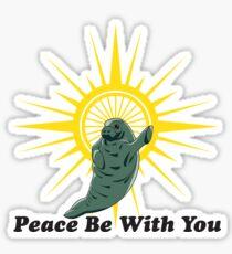 Peaceful Manatee Sticker