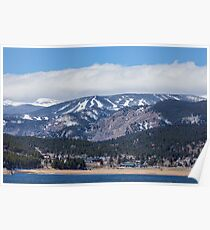 Town Of Nederland Colorado And Eldora Ski Slopes Poster