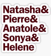 Natasha, Pierre & The Great Comet of 1812 Characters   White & Maroon Sticker