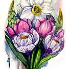 Spring Bouquet (watercolor)  by delicatesketch