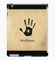 "The Elder Scrolls V: Skyrim - Dark Brotherhood Black Hand ""We Know"" iPad Case/Skin"