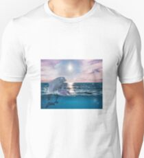 Sparkly Dolphin Ocean 90s Graphic T-Shirt