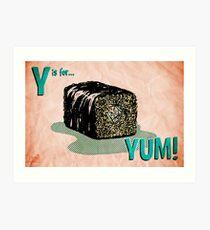 'Y' is for 'Yum'! Art Print