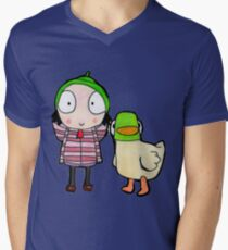 sarah and duck Men's V-Neck T-Shirt