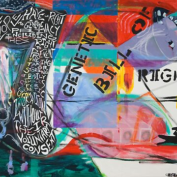 The Genetic Bill of Rights Painting Series by muradian