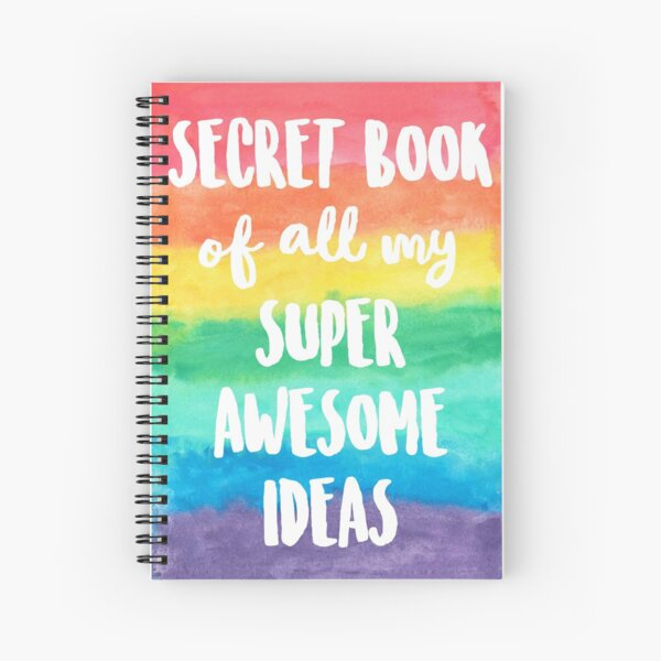 Idea Book - Notebook - Secret Note Book - Rainbow Notebook Spiral Notebook